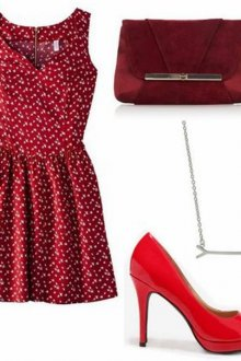 С чем носить красное платье