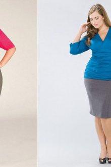 Серые юбки-карандаш для полных женщин