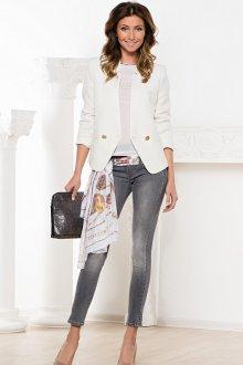 С чем носить джинсы серого цвета