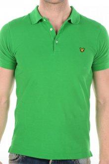 Зеленая мужская футболка поло