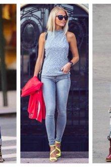С какой обувью носить светлые джинсы