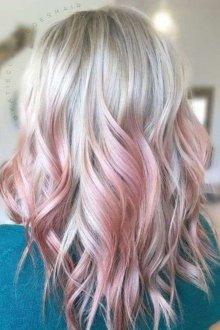 Блонд с розовым отливом