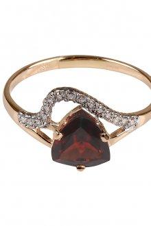 Золотое кольцо с гранатом с бриллиантами