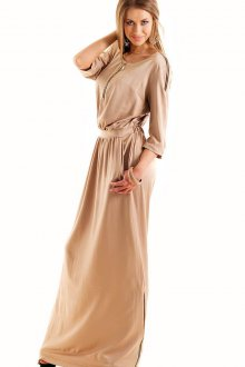 Кремовое платье в пол