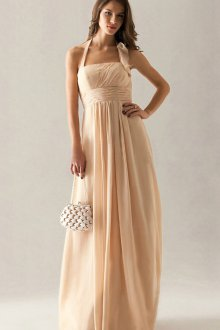 Свадебное кремовое платье с сумочкой