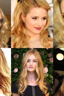 Блонд цвета карамели