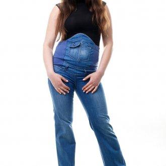 Модные штаны для будущих мам с высокой посадкой и эластичным поясом