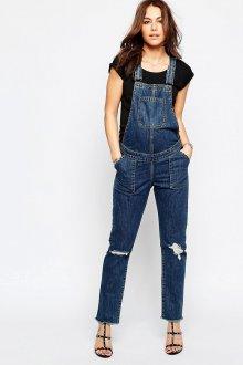 Темный джинсовый комбинезон для беременных