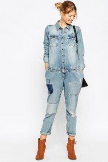 Модный джинсовый комбинезон для беременных