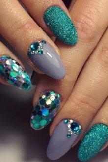 Мерцающие блестки для ногтей