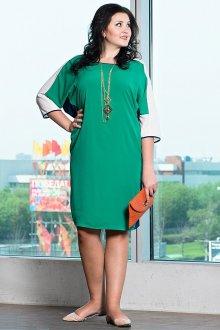 Зеленое платье балахон