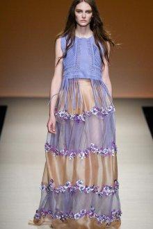 Сиреневое полупрозрачное платье балахон