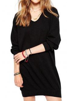 Классическое черное платье балахон