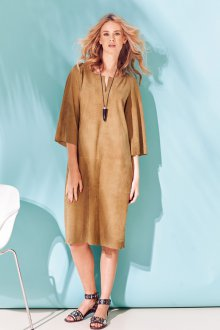 Замшевое платье балахон