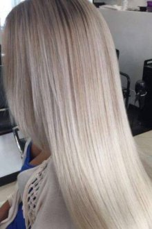 На прямые волосы