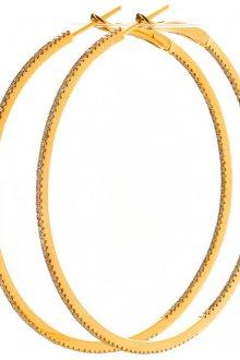 Большие позолоченные серьги конго