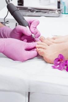Процесс подготовки ногтей
