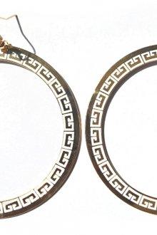 Стильные серьги конго в греческом стиле