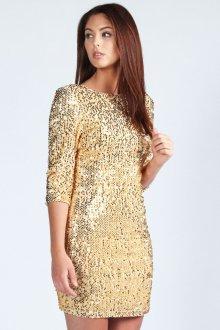 Золотое блестящее платье