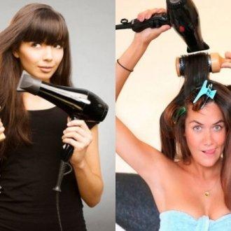 Как уложить волосы феном