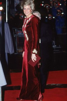 Бархатное платье принцессы Дианы