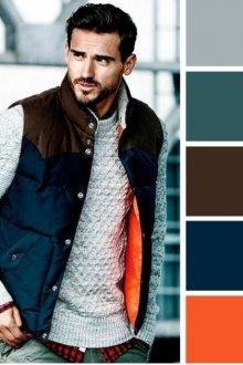 Модные сочетания цветов для мужчин в одежде и обуви