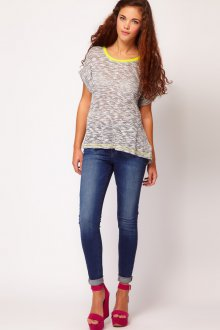 Модные узкие джинсы скинни