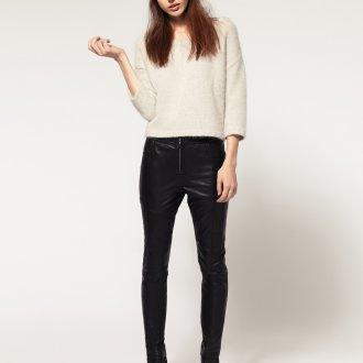 Черные стильные узкие брюки
