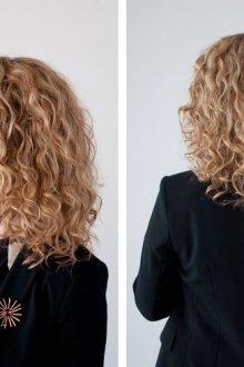 На волосы средней длины