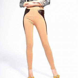 Песочные узкие брюки