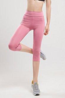 Спортивные розовые узкие брюки