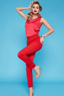 Костюмные красные узкие брюки