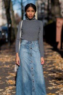 Модели джинсовых юбок
