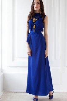 Туфли к синему длинному платью