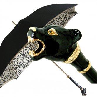 Ручка женского зонта с позолотой