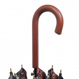 Ручка женского зонта из кожи