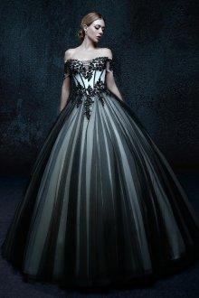 Готическое пышное свадебное платье