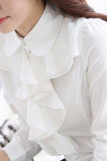 Виды воротников женских блузок