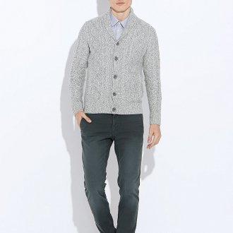 Серый стильный мужской кардиган