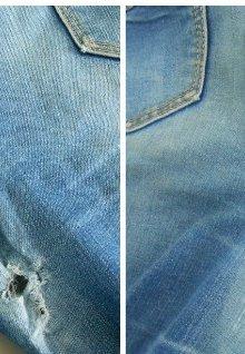 Как зашить дырку на джинсах без заплатки