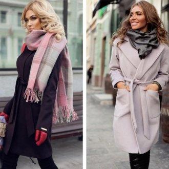 Способы завязать палантин на пальто разных фасонов