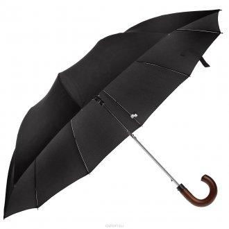 Полуавтоматический черный мужской зонт