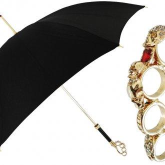 Модный мужской зонт с необычной ручкой