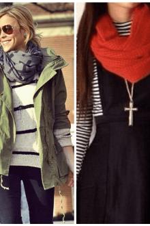 Какой шарф подобрать к куртке