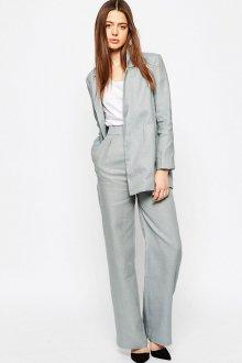 Серые брюки из льна