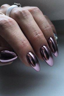 Варианты дизайна ногтей со втиркой