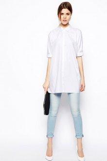 Белая рубашка оверсайз