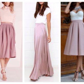 С чем носить юбку-полусолнце