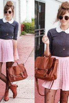 Розовая юбка с кофточкой