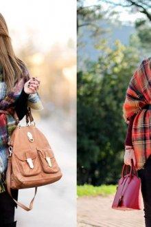 Как носить шарф-плед
